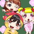 可爱的宝宝中国动漫服装