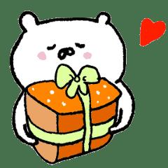 white bear happy birthday sticker line stickers line store white bear happy birthday sticker