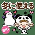 BIG of Winter Panda-Girl