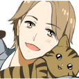 Brown tabby cat&Japanese Boy