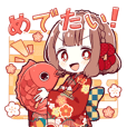 ONINOKO girl sticker for celebrations!