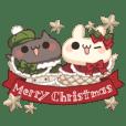 背景が動く!しろとくろ ぱーと1!クリスマス