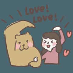 咻咻熊與小女孩(情侶對話篇6)