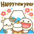 Stickman & mameshiba days & ox(New Year)