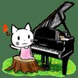 しろねこゆずちゃんのピアノ