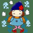 ひま子ちゃん264大人女子の冬日常スタンプ