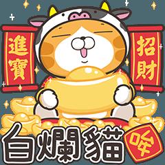 白爛貓新年篇☆賀牛年☆