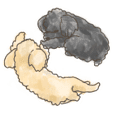 SUTEKI's puppy stickers