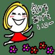大人ラフ♡イエローヘアガール