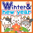 Natural design Cow_newyear english