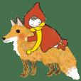 Warm kids and Animals Sticker / winter