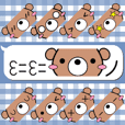 Emoticon stickers of the bear