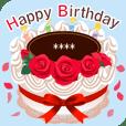 名前入誕生日ケーキ(文字の変更可能)第3弾
