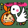 ママと赤ちゃんの妊娠・育児スタンプ