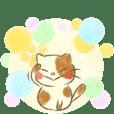 fluffy cat + pastel