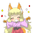 Fox girl Sticker