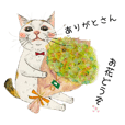 Cute Cat daily Sticker from Hiroshima 2