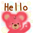 Pretty cotton candy bear