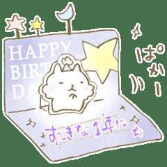 HAPPY BIRTHDAY CATS LINE Stickers