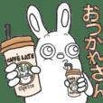 Strange character of the rabbit