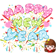 Happy New Year Sticker line