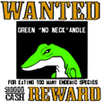 Green Anole of the nuisance