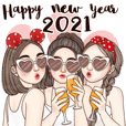 Happy New Year (special big sticker Eng)