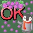 可愛企鵝 特大貼圖 超實用日常生活用語