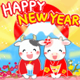 -2021 Ox year Happy year-