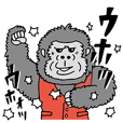Sticker of a gorilla manager