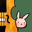 Usagi's violin practice