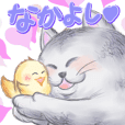 Good friend sticker of Fuku and Piyo.