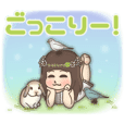 Cheerful kindergarten girl