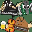 ピアノやバイオリン等の楽器仲間が大活躍!