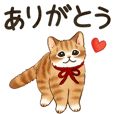 Cat sticker (conveys feelings)