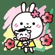 春節♡花うさちゃん♡2021