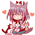 Catgirl girls' sweet everyday stickers