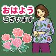 Fashionable girl sticker 4