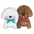 Pungkang and Dolla Happy Poodle Dogs