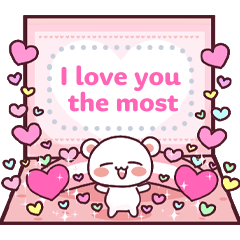 Fluffy Bear. Send a message of love!