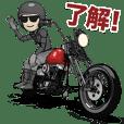 チョッパースタイルのバイク