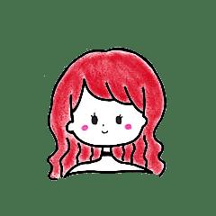 赤髪にチョーカーのあざとい子。