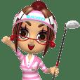 Golf ookura's image character MINAMI