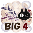 BIG Sticker. black cat-4