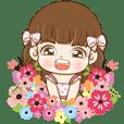 Nani girl in blossom spring