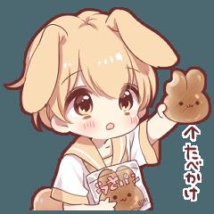 Rabbit boy sticker3