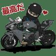 男は、速いバイクに乗る