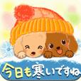 冬のほっこり♡ダックスちゃん【敬語】