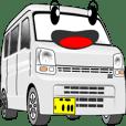 働く車:簡単連絡 2-2 (白)