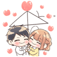 Stickers for you love the most - couple2